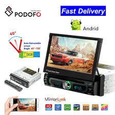 Podofo 1 Din Android Dàn Âm Thanh Xe Hơi Máy Bộ Đàm Autoradio Dẫn Đường GPS  7