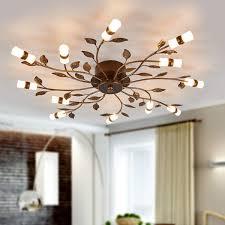 Led Deckenlampe Milian Dekor Blätter Bronze Braun Lampenwelt