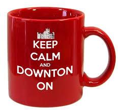 keep calm and downton on mug
