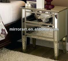 mirrored glass bedroom furniture side table on black bedside tables