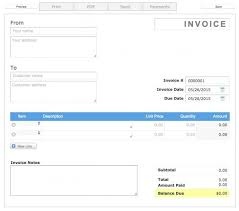 Free Printable Invoice Template From Aynax