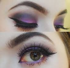 purple smokey eye makeup to make your hazel eyes pop