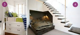tiny bedroom nook. A Bed Nook With Storage Underneath, And A Guest Underneath Staircase. Tiny Bedroom I