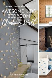 awesome kids bedroom climbing wall