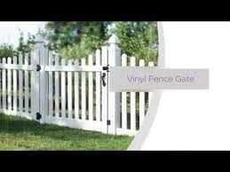 Vinyl fence with metal gate Aluminum Readytoassemble Vinyl Fence Gate Installation Overview Olliechairinfo Readytoassemble Vinyl Fence Gate Installation Overview Youtube