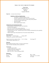 Application Forms Sample Resume Application Form Sample Simple Likeness Also Fair With Of