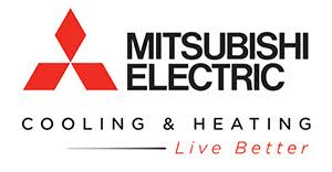mitsubishi electric cooling and heating logo. america\u0027s #1 selling brand of ductless electric heating \u0026 cooling systems. mitsubishi and logo i