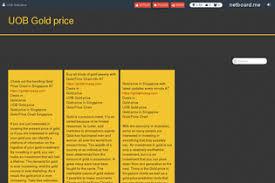 Uob Gold Price Profile