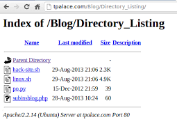 Prevent Directory Listing using HTACCESS - Subin's Blog