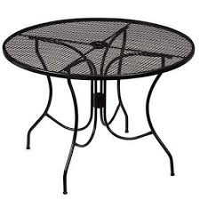 black metal outdoor furniture. Plain Outdoor Nantucket Round Metal Outdoor Dining Table To Black Furniture A