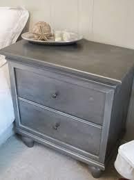 Zinc Finish Furniture Diy Restoration Hardware Inspired Faux Zinc Nightstand