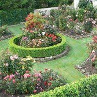 Small Picture This contemplative rose garden plan uses David Austin floribunda