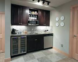 Basement Wet Bar Design Extraordinary Bar Kitchen Wet Ideas Against Wall Design Aaiplco