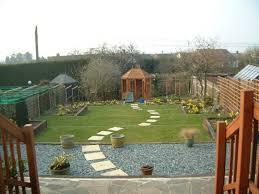 terraced garden on a steep slope