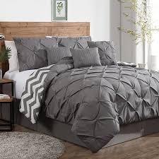 image of modern solid grey comforter