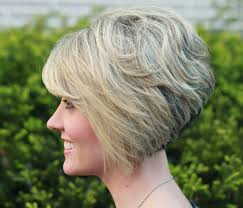 Stacked Bob Hair Style bob hairstyles for thick hair with layered for short hair in 4449 by wearticles.com