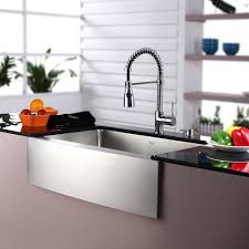 Farmhouse Apron Kitchen Sinks Kraus Commercial Style 30 X 20 Single Basin Farmhouse Apron