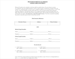 Daycare Contract Template 13 Day Care Contract Examples Samples Pdf Doc Examples