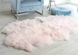 pink sheepskin rugs curly hair extra large rug comfortable anti shrink for home floor blush uk