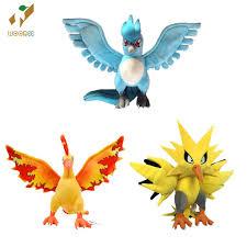 Thú bông bộ 3 pokemon Huyền thoại Articuno, Zapdos và Moltres 30cm