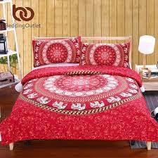 indian comforter red mandala bedding set home elephant messenger bed linen soft fabric bedclothes inspired linens