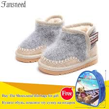 infant genuine leather snow boots 1 3 years old winter boys girls soft bottom toddler boots children