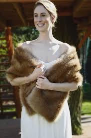 Sissily Designs Etsy Brown Faux Fur Bridal Wrap Wedding Fur Shrug White Fur Wrap