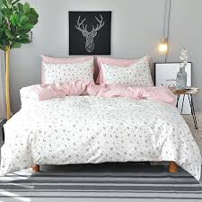 queen size bedding white flowers duvet cover set twin queen king size bedding sets pink cotton bed sheet pillow case fl quilt covers queen size duvet