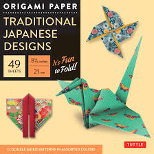 Amazon Com Origami Paper Traditional Japanese Designs Large 8 1