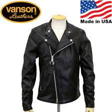 regular dealer vanson バンソン chopper minus chopper minus riders leatherette jacket black