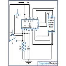 interfacing segment display engineersgarage interfacing 4026 7 segment display circuit circuit diagram 2