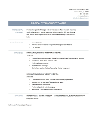 Surgical Tech Resume Sample Luxury Vibrant Inspiration Surgical Tech