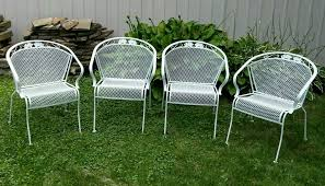 4 vintage meadowcraft wrought iron metal barrel back patio chairs vintage woodard patio furniture