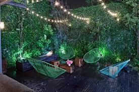 green wall lighting. Outdoor String Lighting Ideas Deck Contemporary With Garden Lights Green Wall T