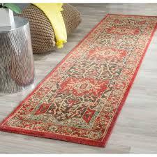 safavieh mahal red 2 ft x 10 ft runner rug