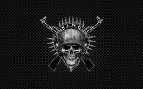 skull black background