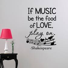 Wenn Musik Werden Das Essen Von Liebe Wandaufkleber Shakespeare