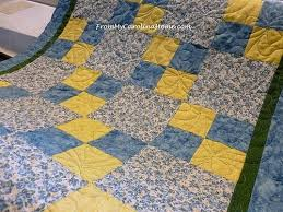 Back to the Blue and Yellow Charity Quilt | From My Carolina Home & Blue Yellow Charity Quilt ~ From My Carolina Home Adamdwight.com