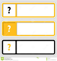 Decorative Text Boxes Boxes For Any Text With Question Mark Stock Vector Illustration 93