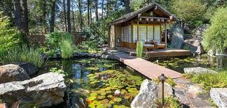 japanese patio furniture. Enjoy These Tranquil Outdoor Living Spaces A Outdoors  Patio Forest Pond Water Lilies Japanese Style Furniture Japanese Patio Furniture T