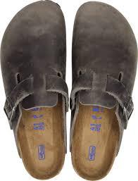 birkenstock boston sfb iron oiled leather scarpa uomo ciabatta 1013256