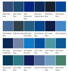 Blue Color Chart With Names Shades Of Blue Color Chart With Names Interior Design Ideas