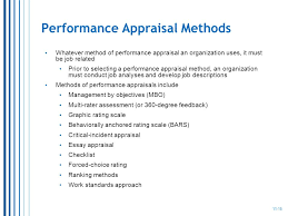 performance management systems ppt  performance appraisal methods