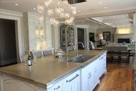Close Up Of Island With Built In Dual Faucet Sink Alexandria, VA. Kitchen  Cabinets Designed By Bradford Design ...