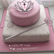 Write Name On Birthday Cake For Girl Princess Happy Birthday Cake