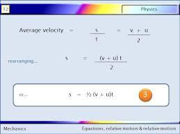 mechanics physics12 equations relative motion relative motion mechanics physics12 equations relative motion