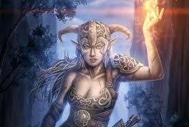 Elves Magic Warrior The Elder Scrolls skyrim Games Fantasy Girls wallpaper    2999x2017   336259