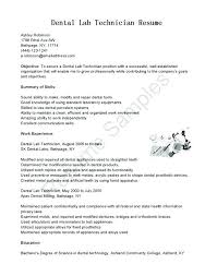 Dental Lab Technician Resumes Medical Laboratory Technician Resume Sample Medical Laboratory