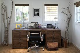rustic office furniture desk soft modern