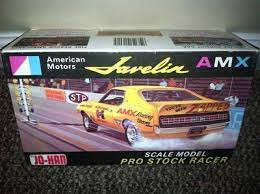 Amc Amx Javelin Model Kit Johan 1 25 Scale Javelin Amx Pro Stock Racer Model Car Kit Model Cars Kits Car Model American Motors